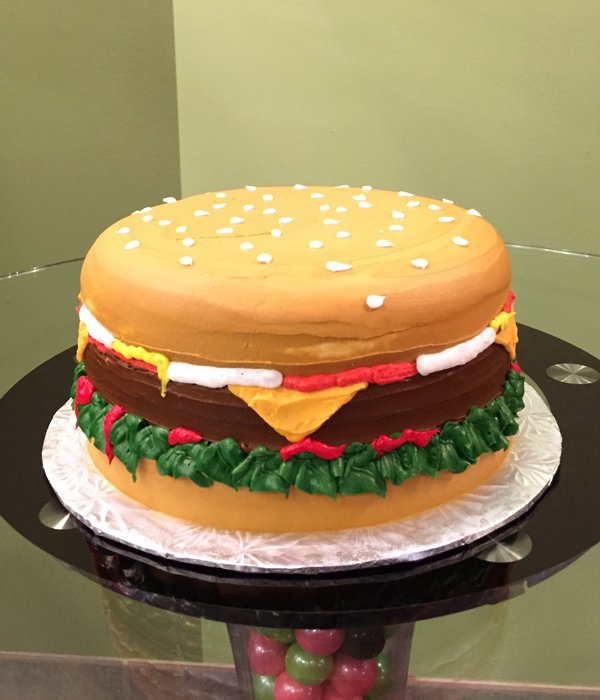 Cheeseburger Layer Cake