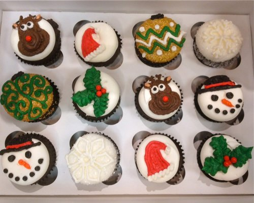 Christmas Cupcakes - Ornament