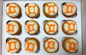 Company Logo Cupcakes - Orange Theory Fitness