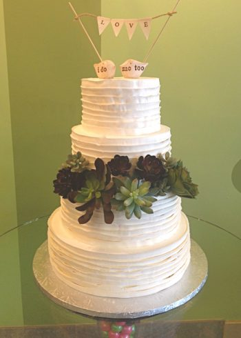 Country Ribbon Wedding Cake