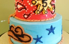 Cowboy Tiered Cake