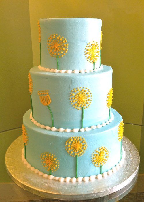Dandelion Tiered Cake Classy Girl Cupcakes