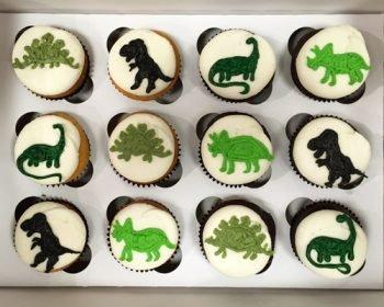 Dinosaur Decorated Cupcakes