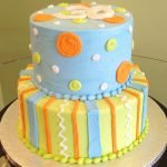 Dots & Stripes Tiered Cake