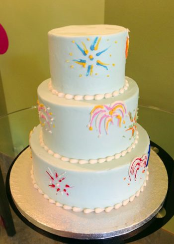 Fireworks Tiered Cake