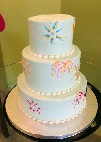 Fireworks Tiered Cake