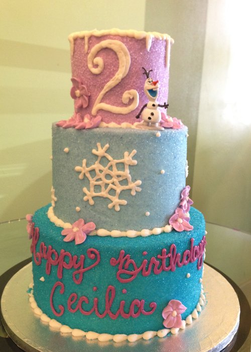 Frozen Tiered Cake - 3 Tiers