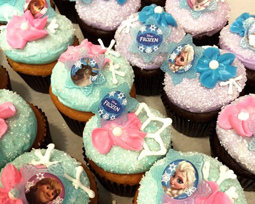 Frozen Decorated Cupcakes