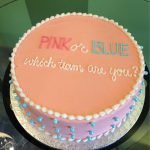 Gender Reveal Layer Cake - Pink Team
