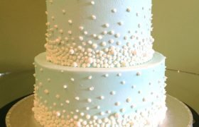 Giselle Tiered Cake - Blue