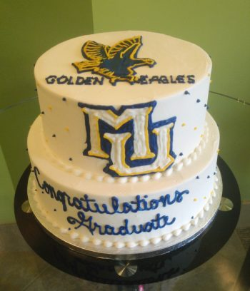 Graduation Mascot Tiered Cake - Marquette University