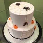 Halloween Spiderweb Tiered Cake