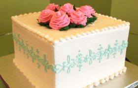 Lace Band Layer Cake - Blue & Pink