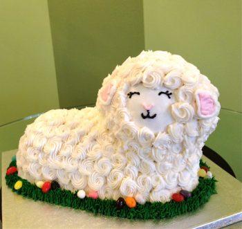Lamb Shaped Cake