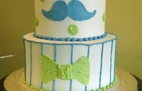 Li'l Man Tiered Cake - Blue