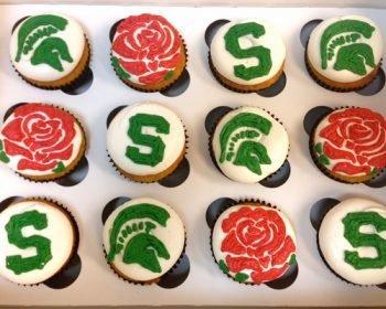 School Logo Cupcakes - Michigan State University