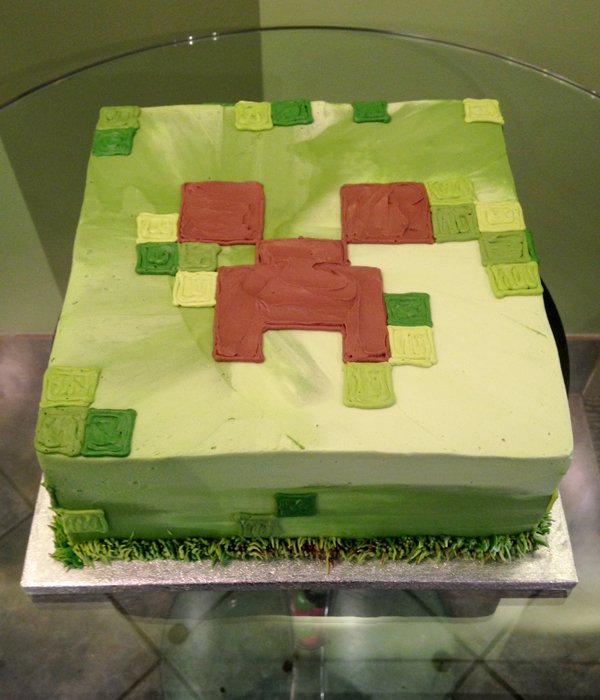 Minecraft Layer Cake - Square