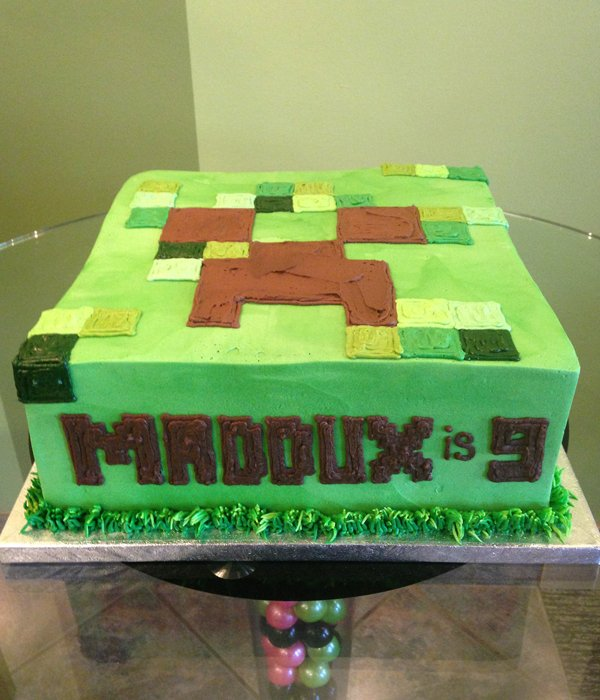 Minecraft Layer Cake