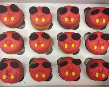 Mouse Ear Cupcakes - Red & Yellow