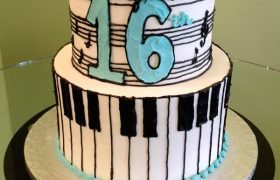 Music Tiered Cake