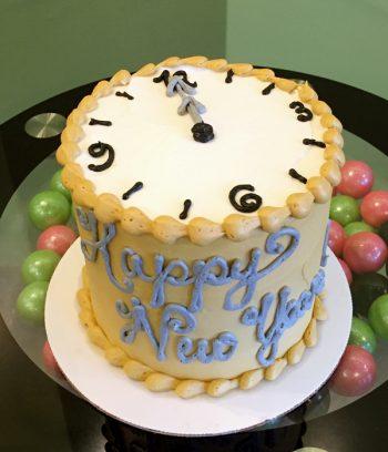 New Years Clock Layer Cake