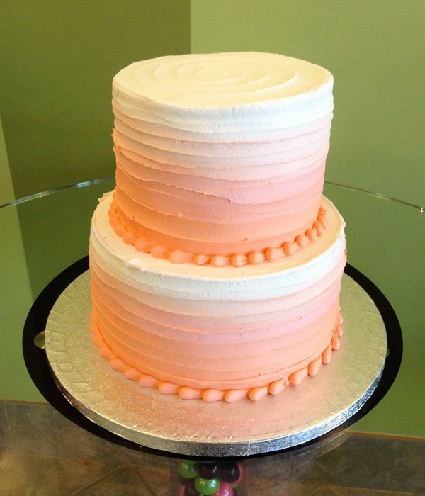 Anabelle Ombre Tiered Cake - Orange