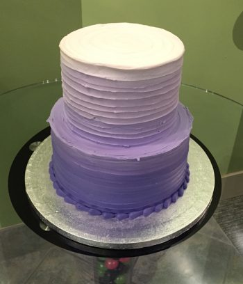 Anabelle Ombre Tiered Cake - Purple