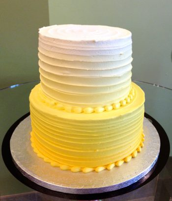 Anabelle Ombre Tiered Cake - Yellow