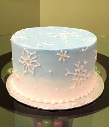Snowflake Ombre Layer Cake