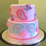 Paisley Tiered Cake