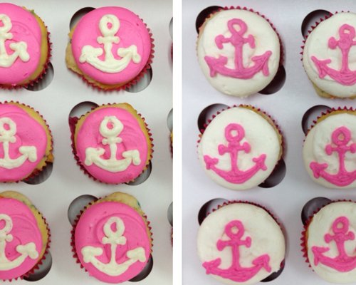 Anchor Cupcakes - Pink