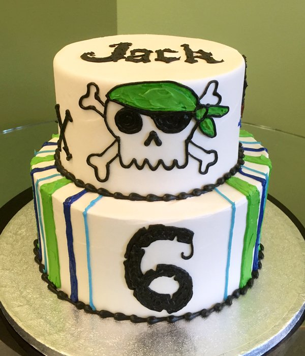 Pirate Tiered Cake - Jack