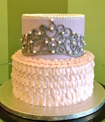 Princess Tiara Tiered Cake