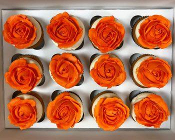 Rose Cupcakes - Orange