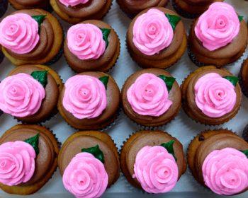 Rose Cupcakes - Pink Chocolate