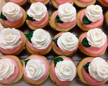 Rose Cupcakes - Pink White