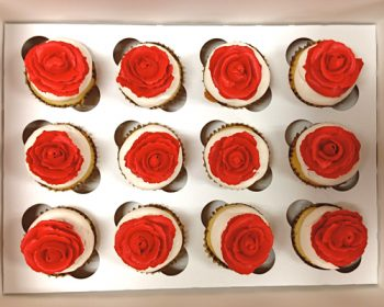 Rose Cupcakes - Red White