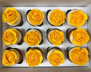 Rose Cupcakes - Yellow