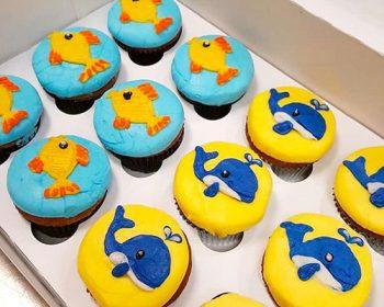 Sea Creature Cupcakes - Goldfish & Whale