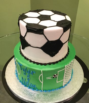 Sports Tiered Cake - Soccer
