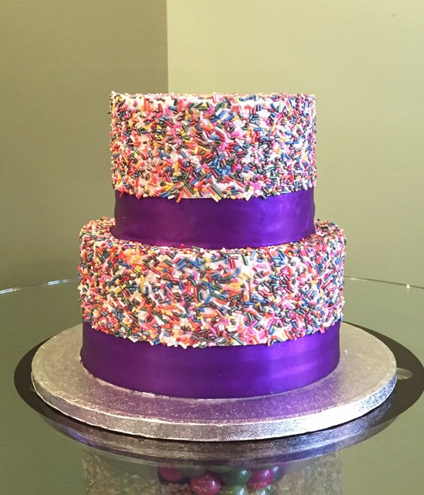 Purple Two Tier Cakes