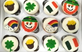 St. Patricks Day Decorated Cupcakes