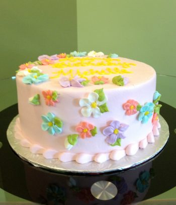 Sweet Flower Layer Cake