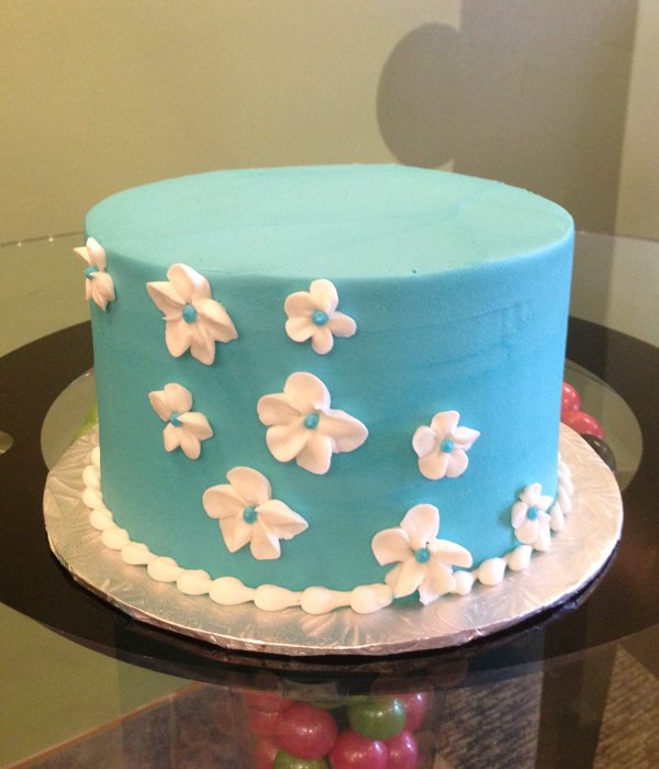 Sweet Flower Layer Cake - Blue