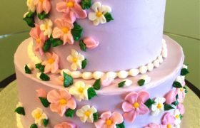 Sweet Flower Tiered Cake