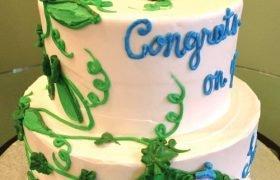 Sweet Pea Tiered Cake