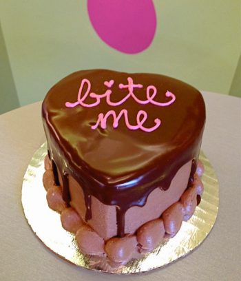 Valentines Heart Mousse Cake - Bite Me