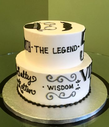 Vintage Dude Tiered Cake - The Legend
