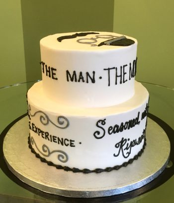 Vintage Dude Tiered Cake - The Man