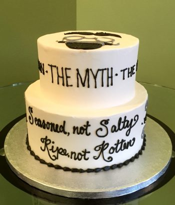 Vintage Dude Tiered Cake - The Myth